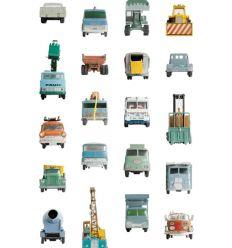 "studio ditte - pannello carta da parati ""work vehicles"""