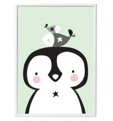 a little lovely company - poster penguin & co