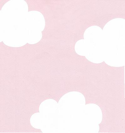 inke - carta da parati nuvole (rosa)