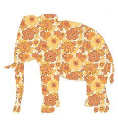 inke - carta da parati sagomata elefante grande