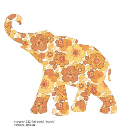 inke - carta da parati sagomata elefante baby
