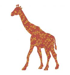 inke - wallpaper decal large giraffe
