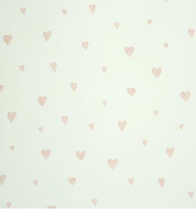 """casadeco - carta da parati cuori """"coeur"""" (rosa chiaro)"""