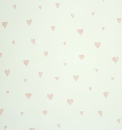 "casadeco - wallpaper hearts ""coeur"" (rose)"