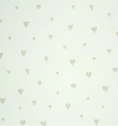 casadeco - carta da parati cuori (grigio)