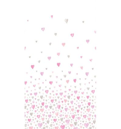 casadeco - fabric hearts (pink/grey)
