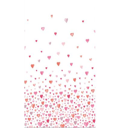 casadeco - fabric hearts (red/pink)