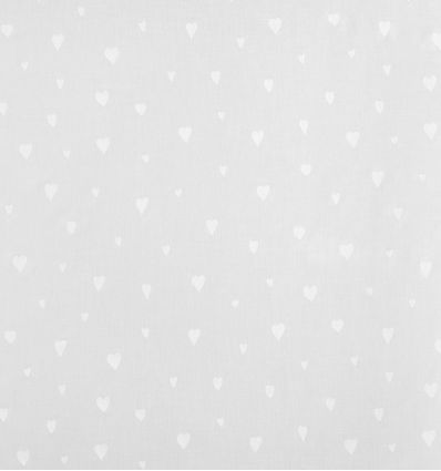 casadeco - tessuto d'arredo per tende cuori coeur (bianco)
