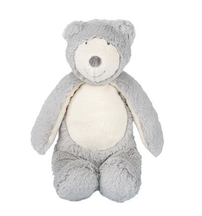 moulin roty - soft toy bear grey - la bande à basile