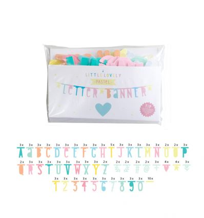 a little lovely company - letter banner (pastel)