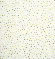 casadeco - carta da parati stelle (giallo/azzurro/grigio)