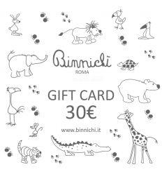 binnichi' gift card - buono regalo 30€