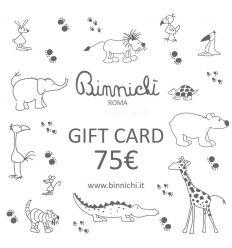 binnichi' gift card - buono regalo 75€