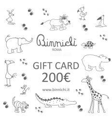 binnichi' gift card - buono regalo 200€