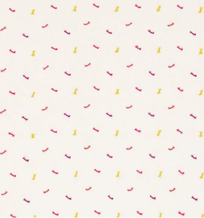 scion - curtains fabric embroidered bows toodle pip (raspberry/sunshine/rhubarb)