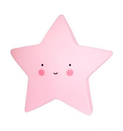 a little lovely company - luce per la notte a pile stella (rosa)