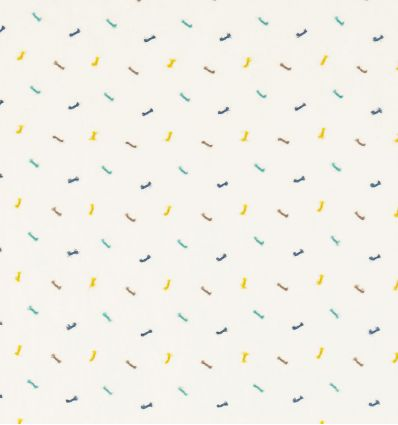 scion - tessuto d'arredo per tende fiocchi ricamati toodle pip (midnight/pebble/aqua)