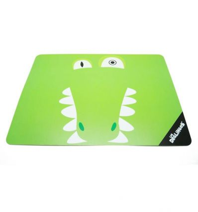 déglingos - stiff placemat aligatos the crocodile