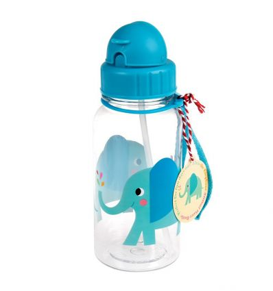 water bottle with straw elvis the elephant