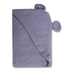 minene - hooded newborn towel (white bunny)