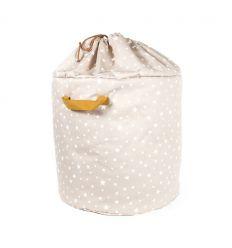 nobodinoz - toy storage baobab large (sand white stars)