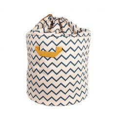 nobodinoz - toy storage baobab large (zigzag blue)