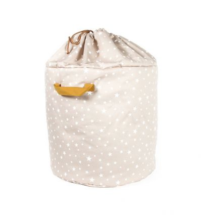 nobodinoz - toy storage baobab small (sand white stars)