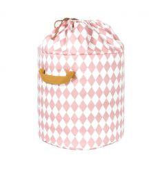 nobodinoz - toy storage baobab large (pink diamonds)