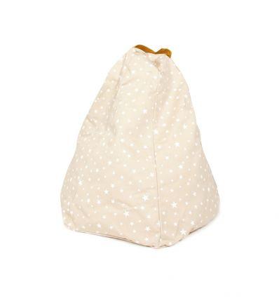 nobodinoz - pouf marrakech (sand white stars)