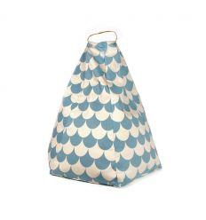 nobodinoz - bean bag marrakech (blue scales)