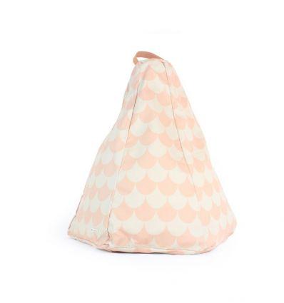 nobodinoz - pouf marrakech - pink scales