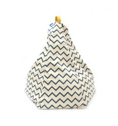 nobodinoz - bean bag marrakech - zigzag blue