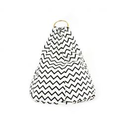 nobodinoz - bean bag marrakech - zigzag black