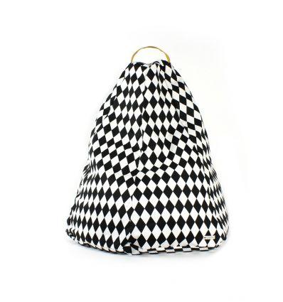 nobodinoz - pouf marrakech (black diamonds)