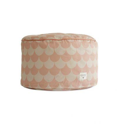 nobodinoz - pouf timbuktu (pink scales)