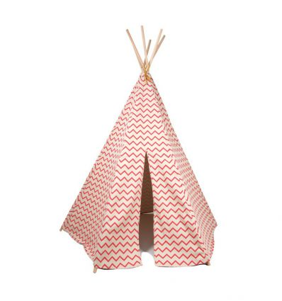 nobodinoz - teepee arizona (zigzag red)