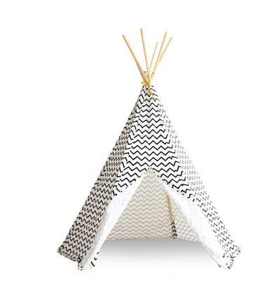 nobodinoz - teepee arizona - zigzag black
