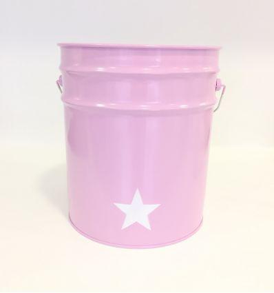 paper bin star (pink)