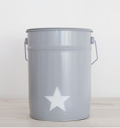 wastepaper basket star - grey