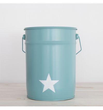 cestino gettacarta stella (verde acqua)