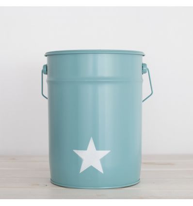 paper bin star (aquamarine)
