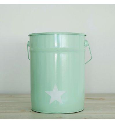 cestino gettacarta stella (verde menta)