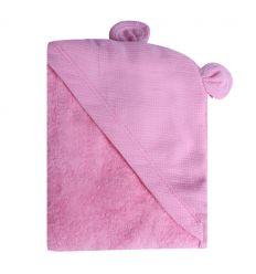 minene - telo accappatoio neonato (orso rosa)