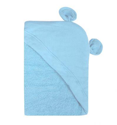 minene - telo accappatoio neonato (orso azzurro)