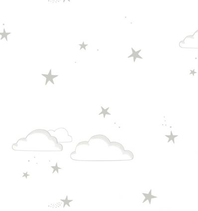 "hibou home - wallpaper ""starry sky"" (silver/white)"