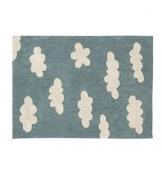 lorena canals - cotton rug clouds (vintage blue)