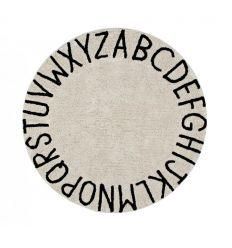 lorena canals - tappeto lavabile alfabeto (natural)