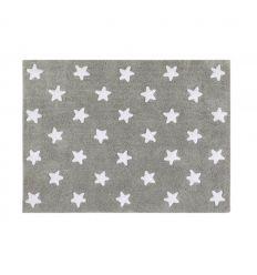 lorena canals - tappeto lavabile stelle piene (grigio)
