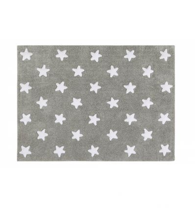 lorena canals - cotton rug full stars (grey)
