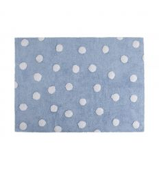 lorena canals - cotton rug polka dots (light blue)